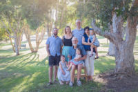 Family photographer Perth ByMika captured large family in outdoor session park Carine