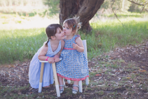Children photography Perth, two cute little sisters posing for their session