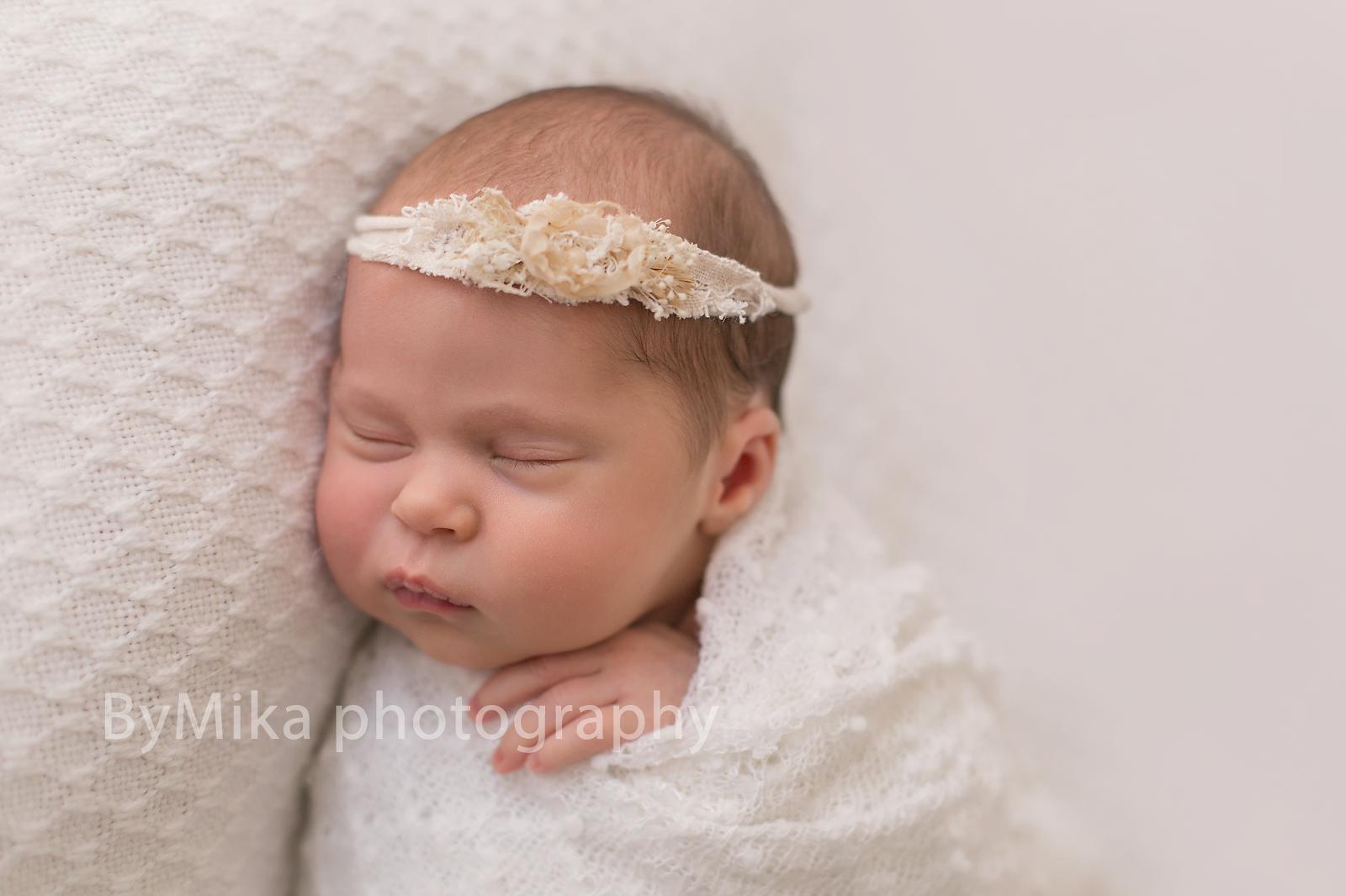 Newborn portrait on beanbag