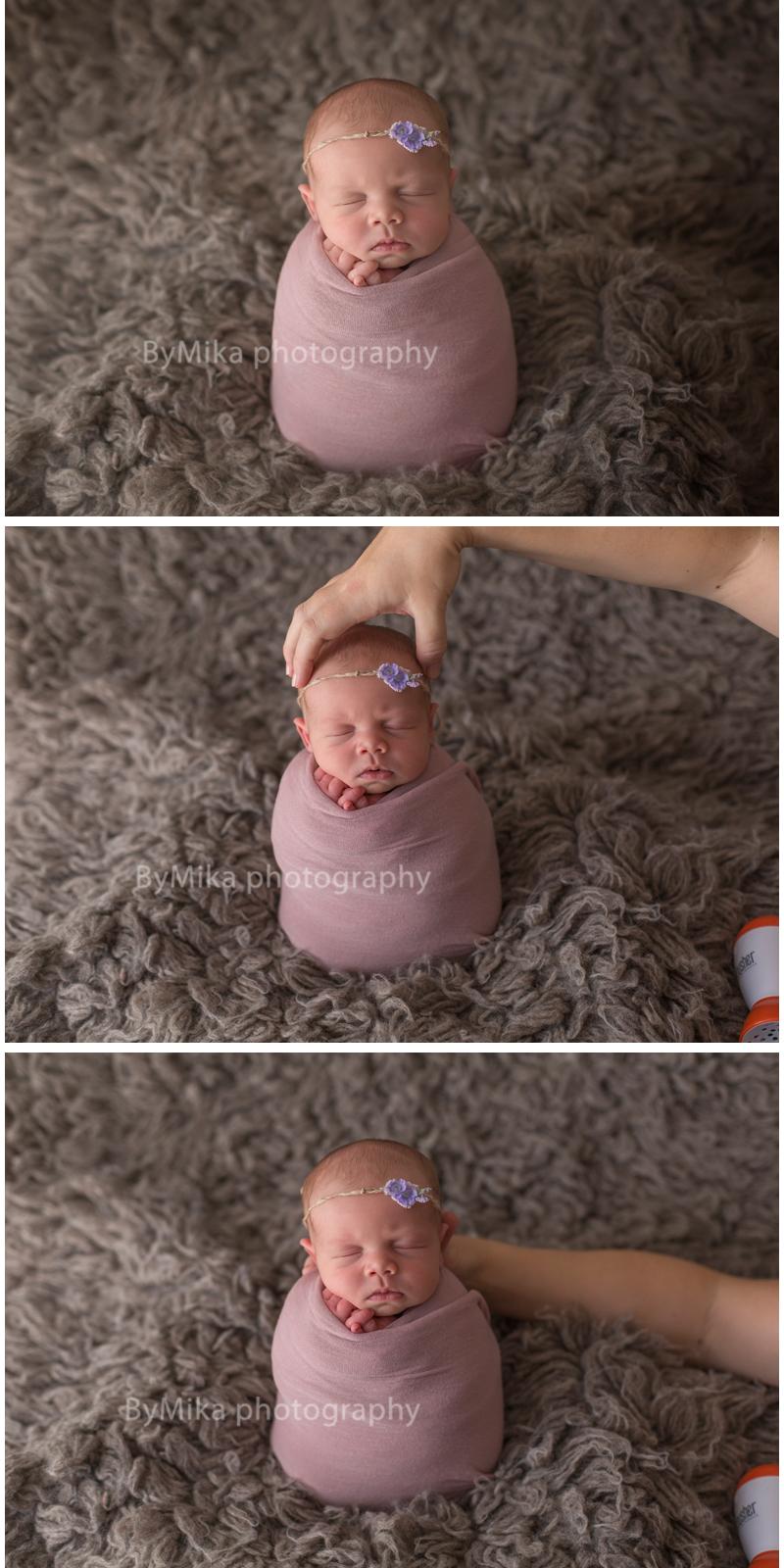 Newborn photo composite