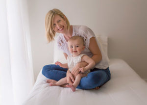 Ella and her mum on bed photo session Perth