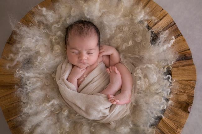 Sleeping newborn Perth baby