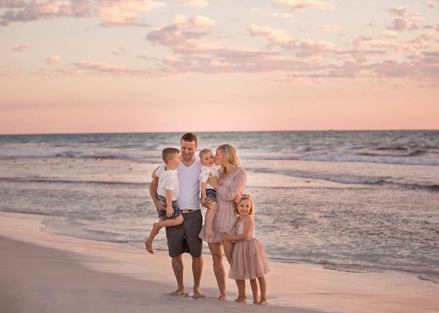 Perth Family portraits on beach