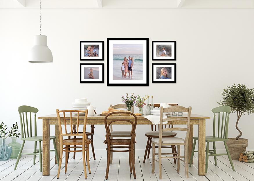 Framed art work collection